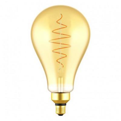XL Peer A160 LED lichtbron goudkleurige Croissant lijn met spiraal filament 8,5W E27 Dimbaar 2000K