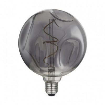 Ampoule LED Globo G140 Bumped Smoky filament Spirale 5W E27 Dimmable 2000K