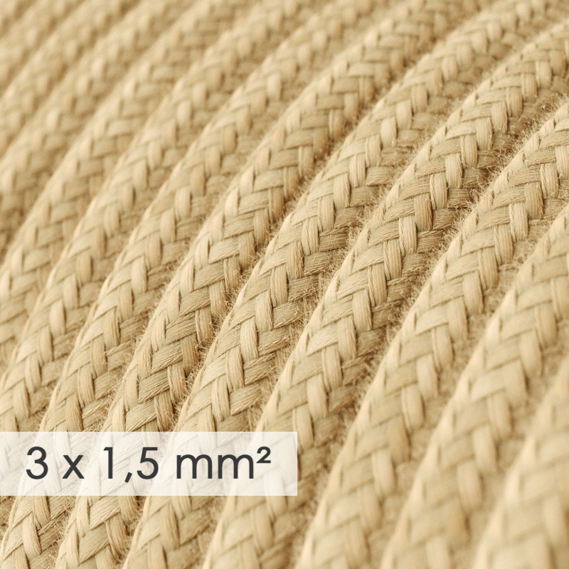 Fil Électrique De Large Section 3x1,50 Rond - Jute RN06