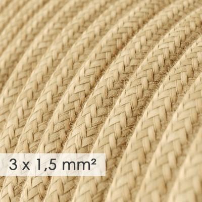 Lang overbrugging-snoer 3 x 1.50 rond - bekleed met jute RN06