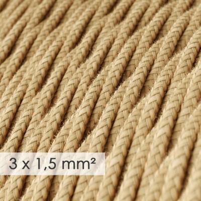 Fil Électrique De Large Section 3x1,50 Torsadé - Jute TN06