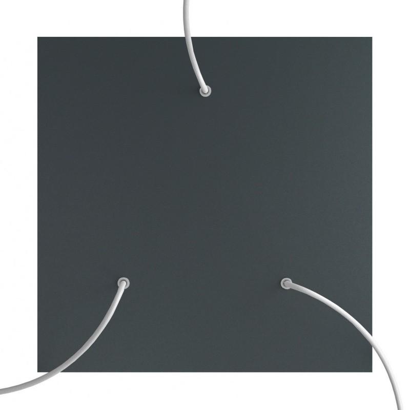 Rosace XXL Rose-One carré de 400 mm avec 3 trous et 4 trous latéraux
