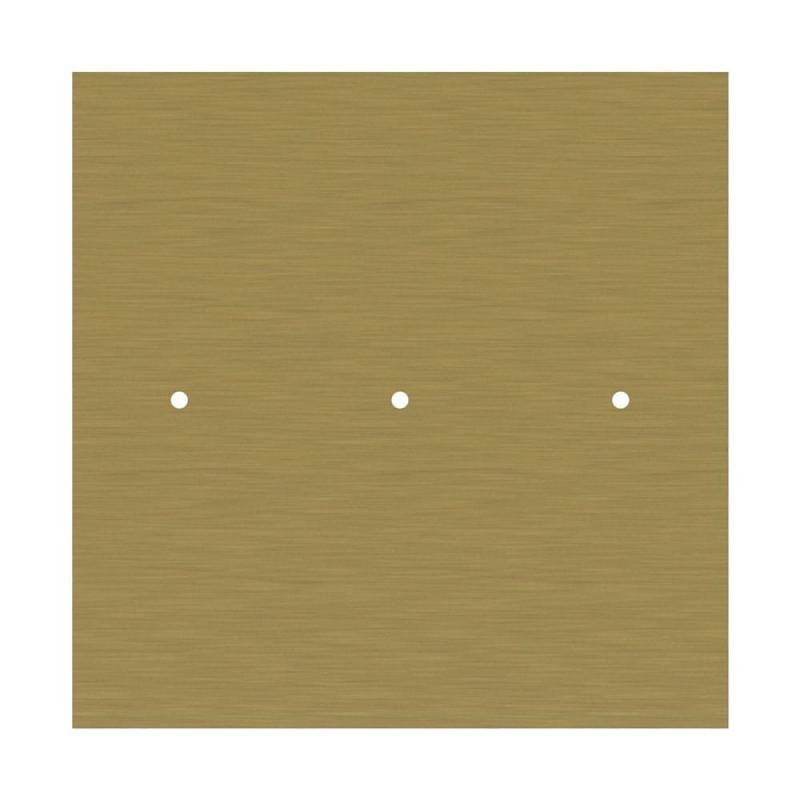 Rosace XXL Rose-One carré de 400 mm avec 3 trous alignés et 4 trous latéraux