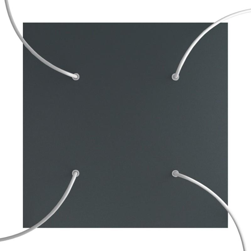 Rosace XXL Rose-One carré de 400 mm avec 4 trous et 4 trous latéraux