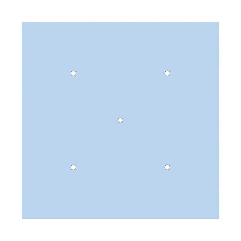 Rosace XXL Rose-One carré de 400 mm avec 5 trous et 4 trous latéraux