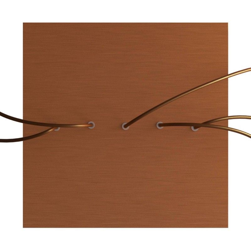 Rosace XXL Rose-One carré de 400 mm avec 5 trous alignés et 4 trous latéraux