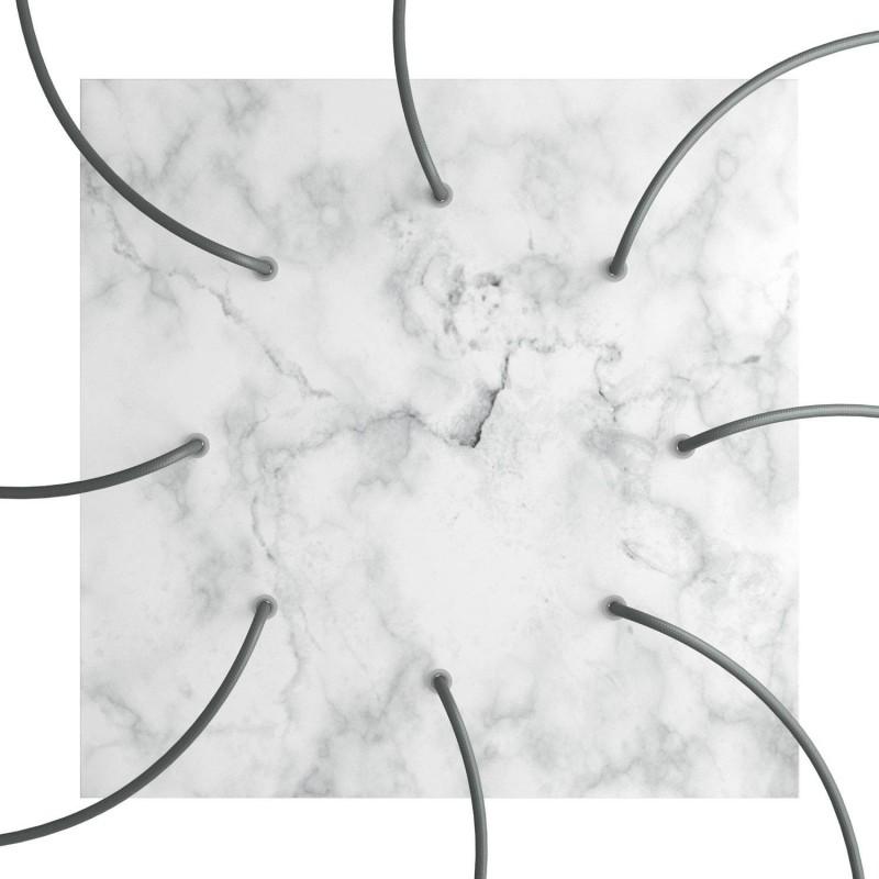 Rosace XXL Rose-One carré de 400 mm avec 8 trous et 4 trous latéraux