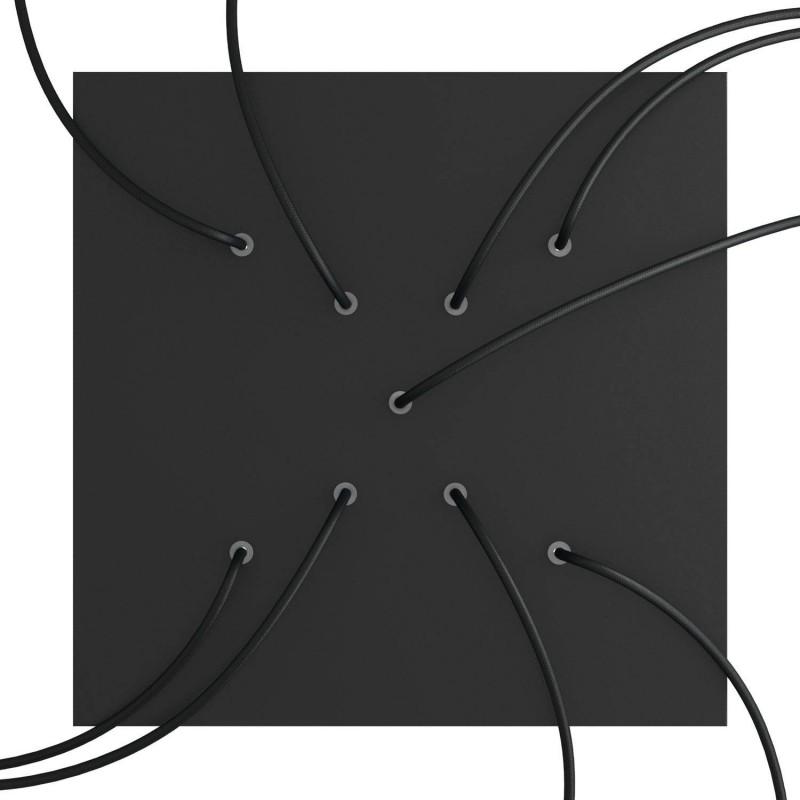 Rosace XXL Rose-One carré de 400 mm avec 9 trous en croix et 4 trous latéraux