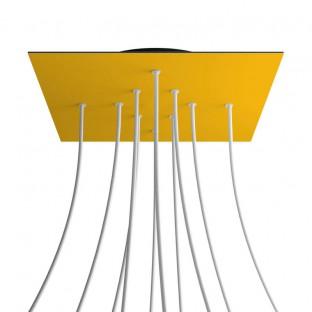 Rose-One compleet vierkant plafondkap-kit 400 mm. met 10 gaten en 4 zijgaten