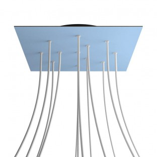 Rose-One compleet vierkant plafondkap-kit 400 mm. met 12 gaten en 4 zijgaten