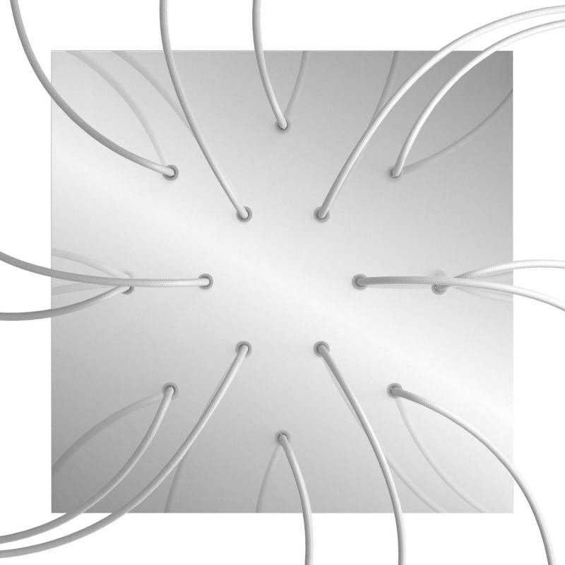 Rosace XXL Rose-One carré de 400 mm avec 14 trous et 4 trous latéraux
