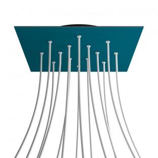 Rose-One compleet vierkant plafondkap-kit 400 mm. met 14 gaten en 4 zijgaten