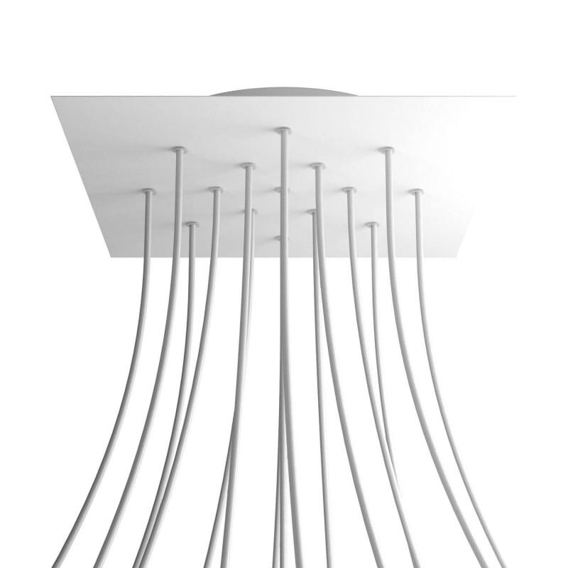 Rosace XXL Rose-One carré de 400 mm avec 15 trous et 4 trous latéraux