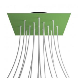 Rose-One compleet vierkant plafondkap-kit 400 mm. met 15 gaten en 4 zijgaten