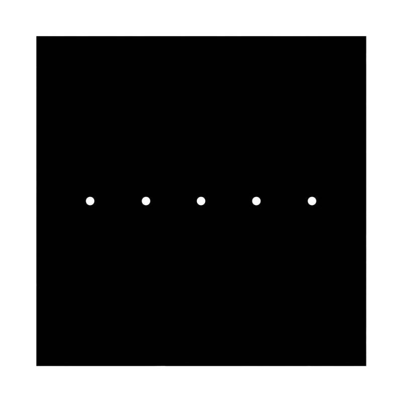 Rosace XXL Rose-One SMART carrée, 400 mm avec 5 trous - compatible avec les assistants vocaux