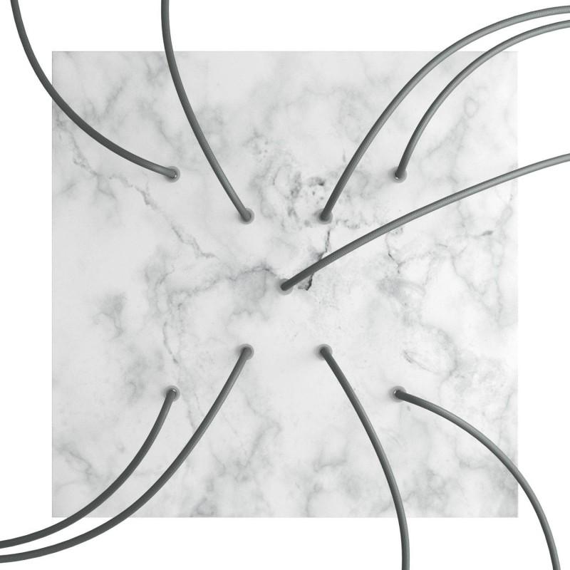 Rosace XXL Rose-One SMART carrée, 400 mm avec 9 trous en X - compatible avec les assistants vocaux