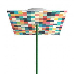 Rose-One compleet vierkant plafondkap-kit 200 mm. met 1 gat en 4 zijgaten - PROMO