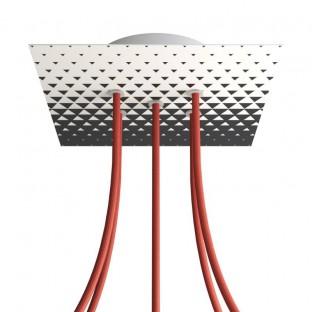 Rose-One compleet vierkant plafondkap-kit 200 mm. met 5 gaten en 4 zijgaten - PROMO