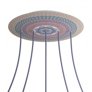 Rosace XXL Rose-One rond de 400 mm de diamètre avec 5 trous alignés et 4 trous latéraux - PROMO