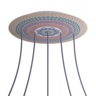 Rose-One compleet rond plafondkap-kit 400 mm. met 5 gaten op lijn en 4 zijgaten - PROMO