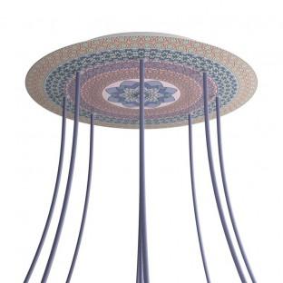 Rose-One compleet rond plafondkap-kit 400 mm. met 9 gaten en 4 zijgaten - PROMO