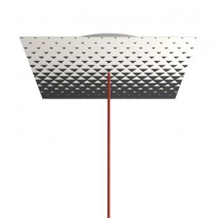 Rosace XXL Rose-One carré de 400 mm avec 1 trou et 4 trous latéraux - PROMO