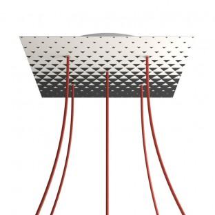 Rose-One compleet vierkant plafondkap-kit 400 mm. met 5 gaten en 4 zijgaten - PROMO