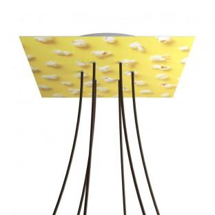 Rose-One compleet vierkant plafondkap-kit 400 mm. met 6 gaten en 4 zijgaten - PROMO