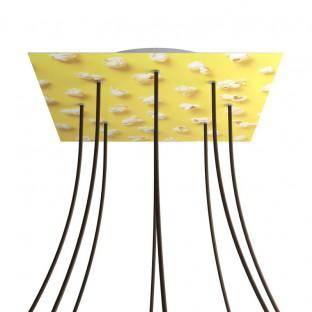 Rose-One compleet vierkant plafondkap-kit 400 mm. met 8 gaten en 4 zijgaten - PROMO