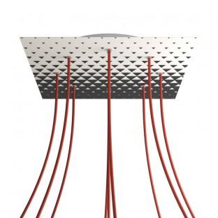 Rosace XXL Rose-One carré de 400 mm avec 9 trous et 4 trous latéraux - PROMO