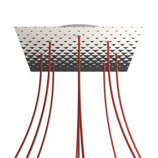 Rose-One compleet vierkant plafondkap-kit 400 mm. met 9 gaten en 4 zijgaten - PROMO