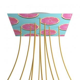Rosace XXL Rose-One carré de 400 mm avec 10 trous et 4 trous latéraux - PROMO