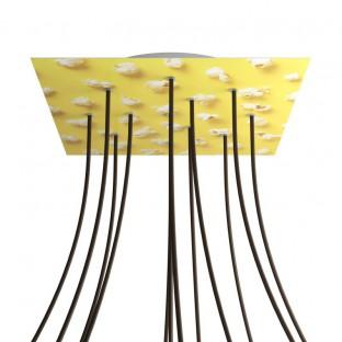 Rose-One compleet vierkant plafondkap-kit 400 mm. met 12 gaten en 4 zijgaten - PROMO