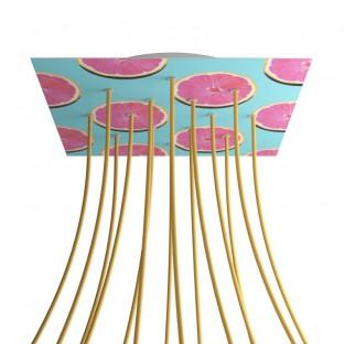 Rose-One compleet vierkant plafondkap-kit 400 mm. met 14 gaten en 4 zijgaten - PROMO