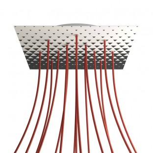Rosace XXL Rose-One carré de 400 mm avec 15 trous et 4 trous latéraux - PROMO