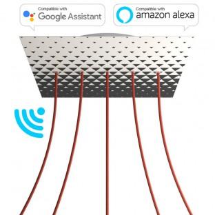 XXL Rose-One Smart vierkante rozet, 400 mm diameter met 5 gaten - compatibel met voice assistants - PROMO