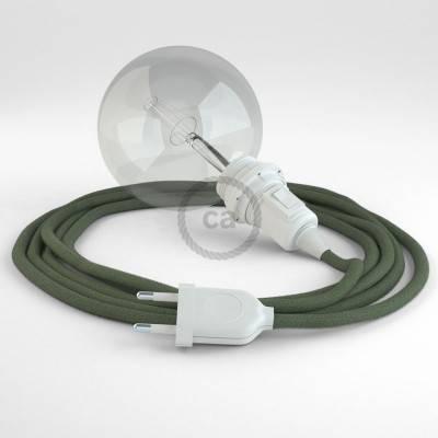 Créez votre Snake pour Abat-jour Coton Gris Vert RC63 et apportez la lumière là où vous souhaitez.