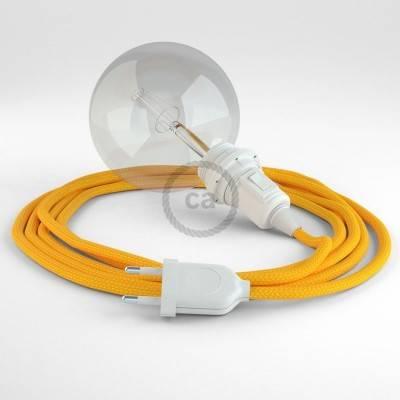 """""""Snake"""" hanglamp met extra lang strijkijzersnoer geel viscose RM10"""