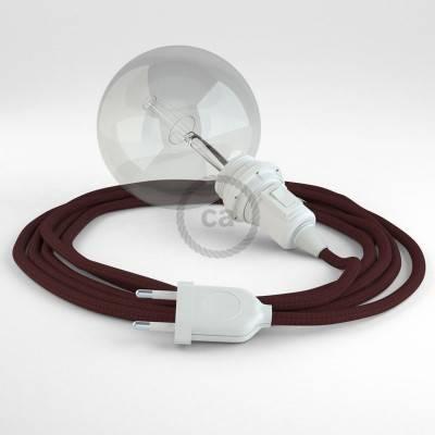 Créez votre Snake pour Abat-jour Effet Soie Bordeaux RM19 et apportez la lumière là où vous souhaitez.