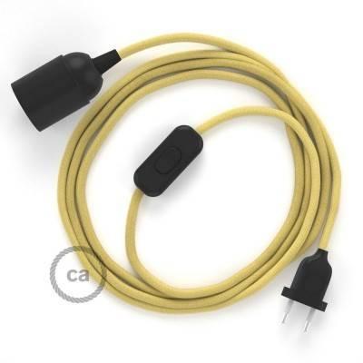 SnakeBis cordon avec douille et câble textile Coton Jaune Pastel RC10