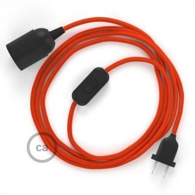 SnakeBis bedradingsset met fitting en strijkijzersnoer - oranje viscose RM15