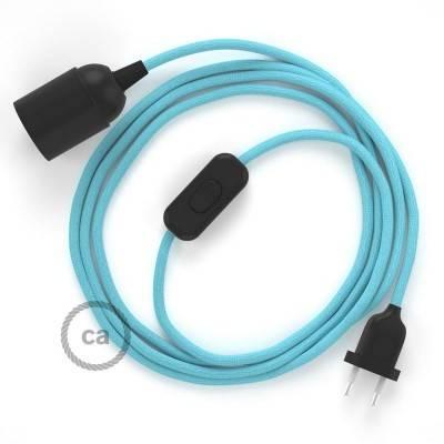 SnakeBis bedradingsset met fitting en strijkijzersnoer - baby blauw viscose RM17