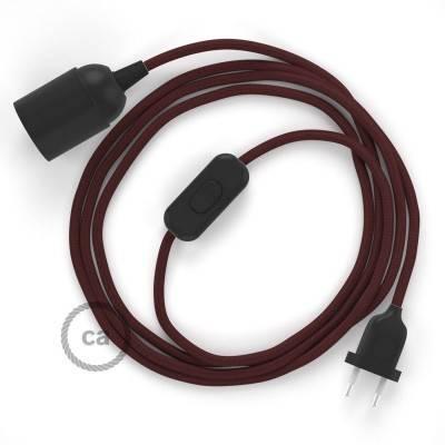 SnakeBis bedradingsset met fitting en strijkijzersnoer - burgundy viscose RM19