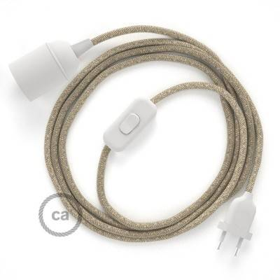 SnakeBis cordon avec douille et câble textile Lin Naturel Neutre RN01