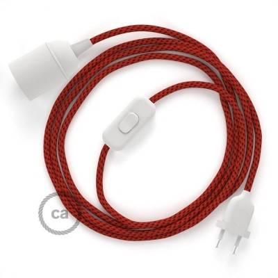 SnakeBis cordon avec douille et câble textile 3D Red Devil RT94