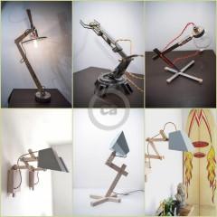 Christian Caulas: lampes géométriques