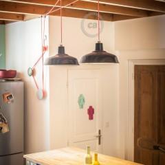 Pascal Flamant: une poulie pour les lampes de la cuisine